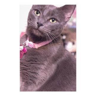Marguerite le chat papier à lettre customisable