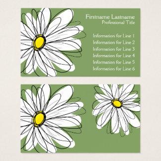 Marguerite lunatique - vert jaune cartes de visite