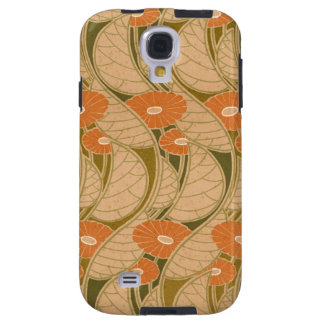 Marguerite orange de Nouveau d'art de Rene Coque Galaxy S4