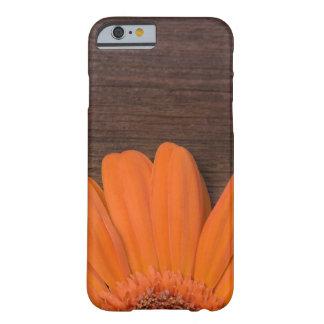 Marguerite orange et bois rustiques de grange coque barely there iPhone 6