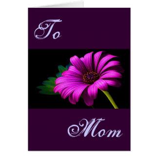 Marguerite rose pourpre heureuse du jour de mère I Cartes