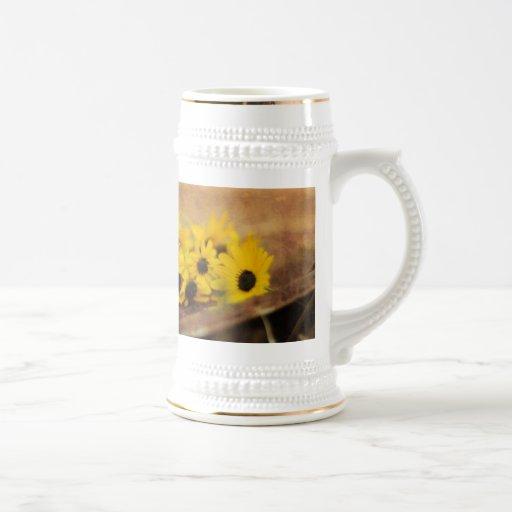 marguerite rustique vintage tasses