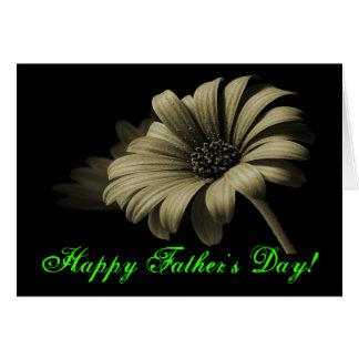 Marguerite verte grise de fête des pères heureuse  carte