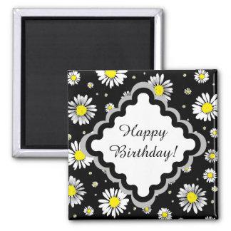 Marguerites - aimant de joyeux anniversaire