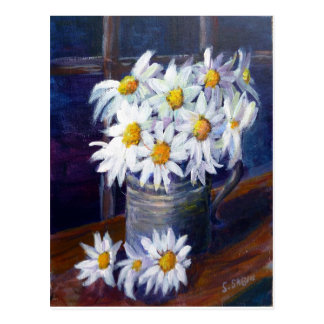 Marguerites blanches carte postale
