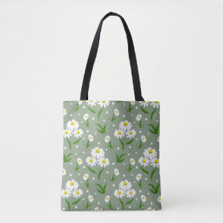 Marguerites blanches Fourre-tout Tote Bag