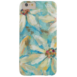 Marguerites blanches sur le bleu coque barely there iPhone 6 plus