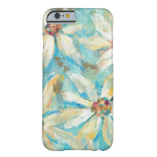Marguerites blanches sur le bleu coque iPhone 6 barely there