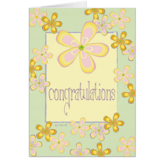 Marguerites colorées - Congrats Cartes