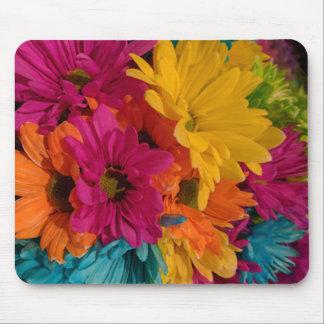 Marguerites colorées tapis de souris