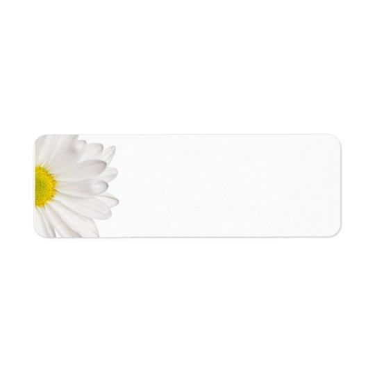 Marguerites customisées par arrière - plan de étiquette d'adresse retour