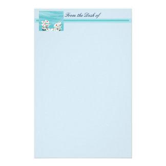Marguerites dans la brise papier à lettre personnalisé