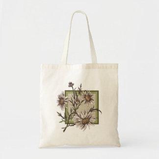 Marguerites recouvrant le cadre vert sac en toile