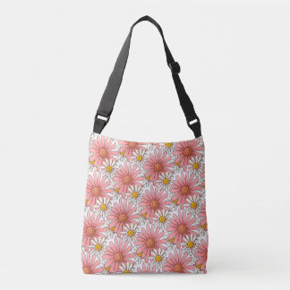 Marguerites roses Girly et marguerites blanches Sac