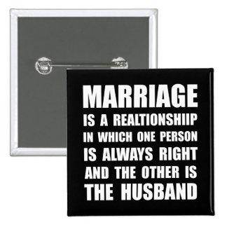 Mari de mariage badges