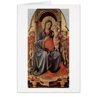 Maria avec l'enfant et anges par ATF Angelico Carte De Vœux