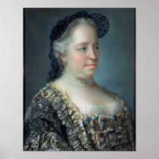 Maria Theresa, impératrice de l'Autriche, 1762 Posters