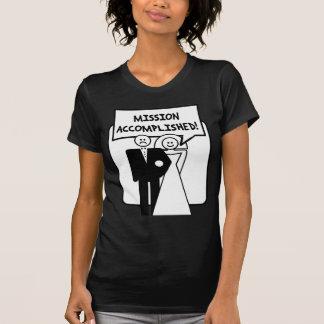 """Mariage accompli """"par mission"""" t-shirt"""
