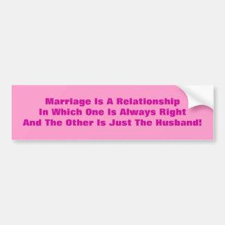 MARIAGE AUTOCOLLANT POUR VOITURE