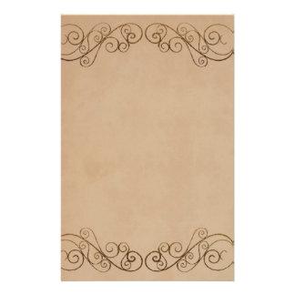 Mariage beige vintage papier à lettre personnalisé
