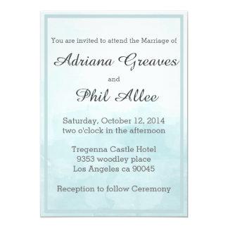 Mariage bleu d'aquarelle cartons d'invitation