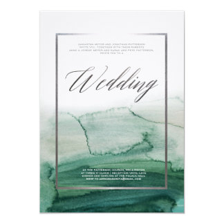 Mariage brumeux d'automne de paysage d'abrégé sur carton d'invitation  12,7 cm x 17,78 cm