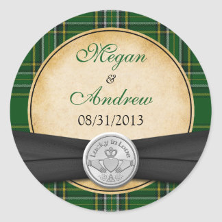 Mariage chanceux de Claddagh de Celtic irlandais Sticker Rond