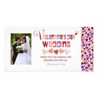 Mariage coloré de Saint-Valentin de biscuits de Photocartes Personnalisées