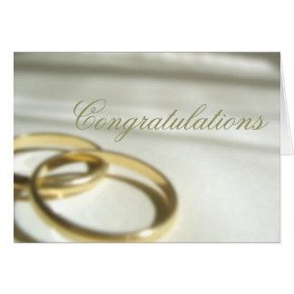 Mariage Congrats Carte De Vœux