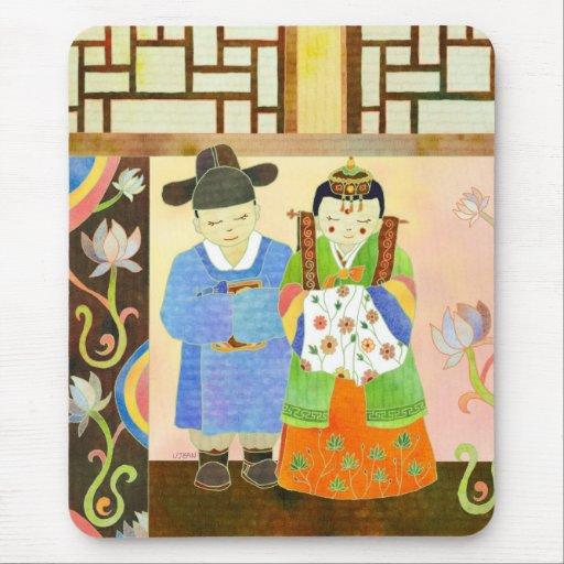 Mariage coréen traditionnel (#1) Mousepad Tapis De Souris