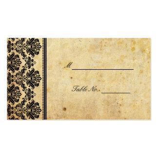 Mariage damassé vintage posant Placecards Carte De Visite Standard