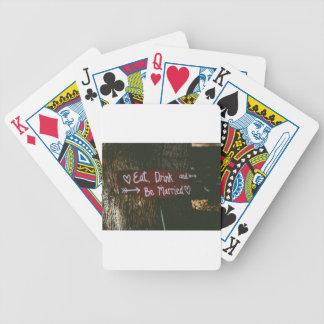 Mariage d'amour jeux de cartes
