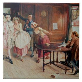 Mariage dans Fleet Street, 1898 (huile sur la toil Grand Carreau Carré