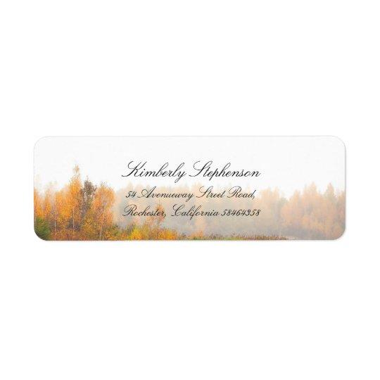 Mariage de automne coloré rustique étiquette d'adresse retour