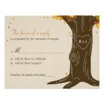 Mariage de automne RSVP de chêne/carte de réponse Carton D'invitation