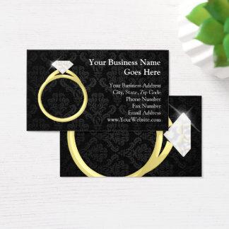 Mariage de bijoutier de bijoux d'anneau de cartes de visite