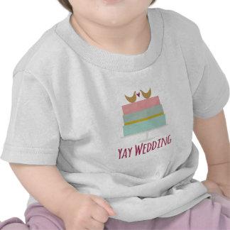 Mariage de Cake_Yay de mariage T-shirts
