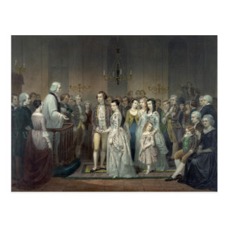 Mariage de carte postale de George Washington