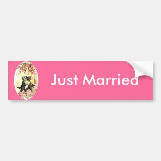 Mariage de chat de Kitty Autocollant Pour Voiture