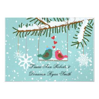 Mariage de courrier de Noël de neige de flocons de Carton D'invitation 12,7 Cm X 17,78 Cm