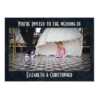 Mariage de dîneur de style d'années '50 carton d'invitation  12,7 cm x 17,78 cm