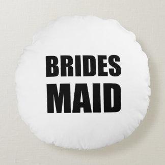Mariage de domestique de jeunes mariées coussins ronds