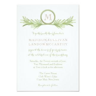 Mariage de fines herbes de brins de Rosemary Carton D'invitation 12,7 Cm X 17,78 Cm