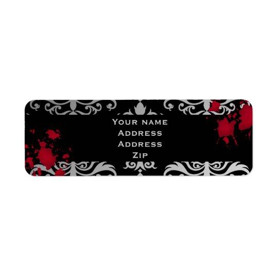 Mariage de Halloween de vampire Étiquette D'adresse Retour