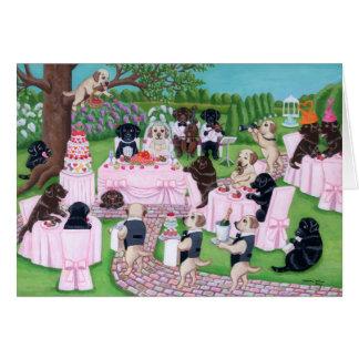 Mariage de Labrador Carte De Vœux
