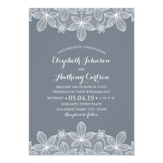 Mariage de luxe de dentelle vintage élégante carton d'invitation  12,7 cm x 17,78 cm