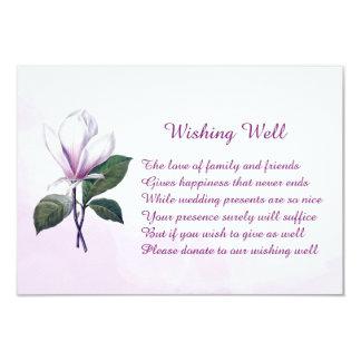 Mariage de magnolia souhaitant les cartes bonnes carton d'invitation 8,89 cm x 12,70 cm