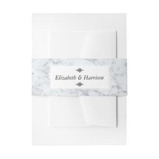 Mariage de marbre vintage élégant bandeau de faire-part