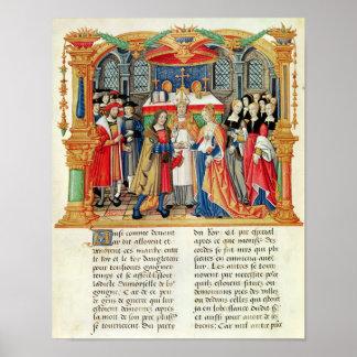 Mariage de Maria de Bourgogne et de Maximilian I Poster
