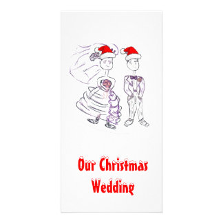 Mariage de Noël Modèle Pour Photocarte